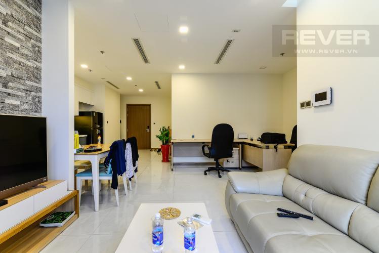 Phòng Khách Căn hộ Vinhomes Central Park tầng cao tháp Park 2, 3PN nội thất đầy đủ