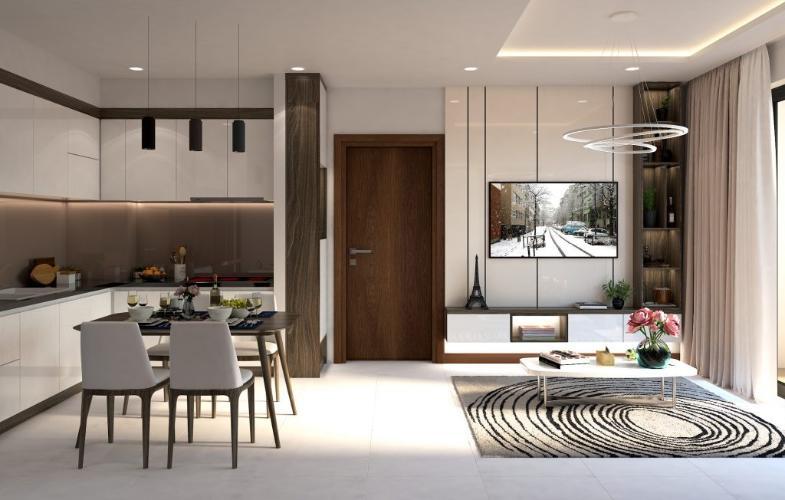 Phòng khách căn hộ Bcons miền Đông Căn hộ Bcons Miền Đông nội thất bàn giao cơ bản, view mát mẻ