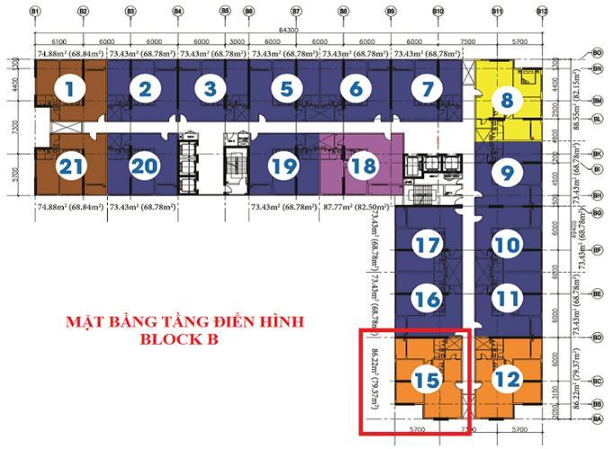 Layout chung cư Diamond Riverside, Quận 8 Căn hộ Daimond Riverside nội thất cơ bản cao cấp, view nội khu.