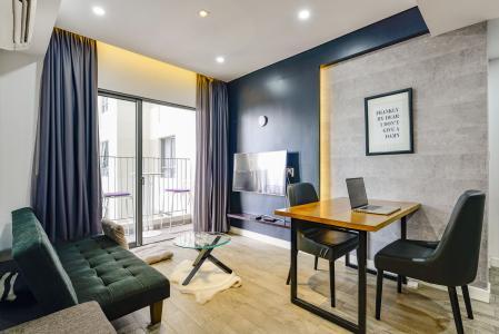 Căn hộ Masteri Thảo Điền tầng cao T2 thiết kế đẹp, view hồ bơi nội khu