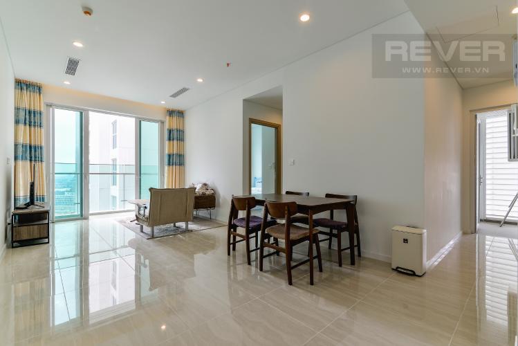 Phòng Khách Cho thuê căn hộ Sadora Apartment 88m2 2PN 2WC, nội thất cao cấp, view hồ bơi