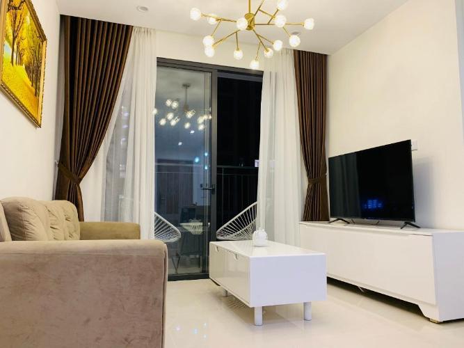 Phòng khách căn hộ Vinhomes Grand Park Căn hộ Vinhomes Grand Park ban công hướng Đông Nam, đầy đủ nội thất.