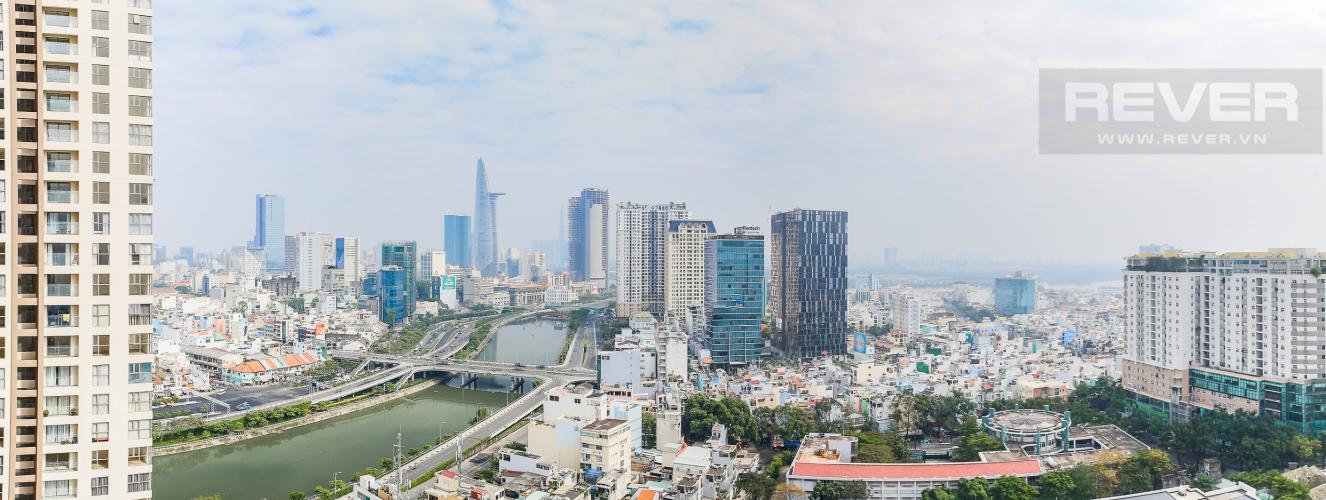 View Căn hộ Masteri Millennium tầng cao, 3PN, đầy đủ nội thất, view kênh Bến Nghé