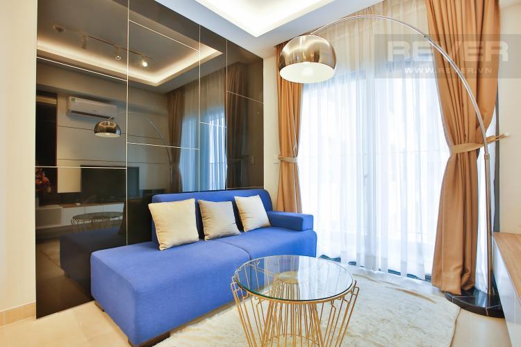Phòng Khách Căn hộ Masteri Thảo Điền 2 phòng ngủ tầng cao T2 hướng Đông Nam