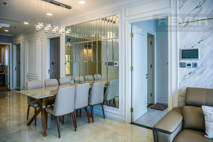 Phòng Ăn Cho thuê căn hộ Vinhomes Golden River tầng cao, đầy đủ nội thất, view Sài Gòn và Bitexco