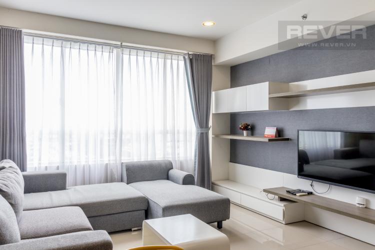 Phòng Khách Cho thuê căn hộ Sunrise City 3PN, tháp V4 khu South, đầy đủ nội thất, view sông thoáng mát