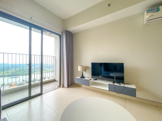 không gian căn hộ Masteri Thảo Điền Căn hộ Masteri Thảo Điền view thành phố và sông, đầy đủ nội thất.