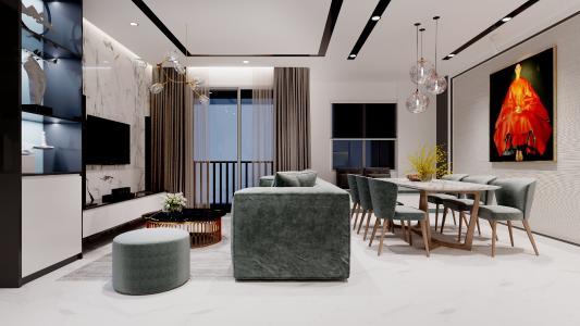 Cho thuê căn hộ Grand Riverside 3 phòng ngủ, diện tích 110m2, đầy đủ nội thất