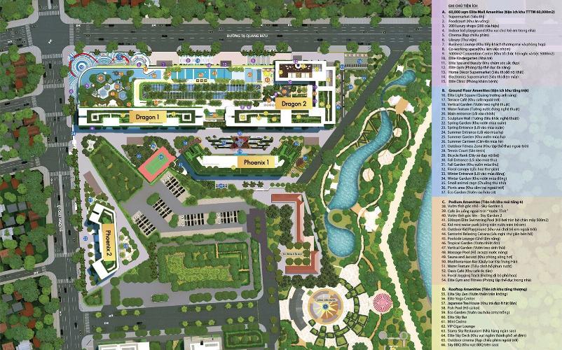 Tổng quan dự án Topaz Elite Căn hộ Topaz Elite tầng cao, view thành phố hướng Tây Bắc.