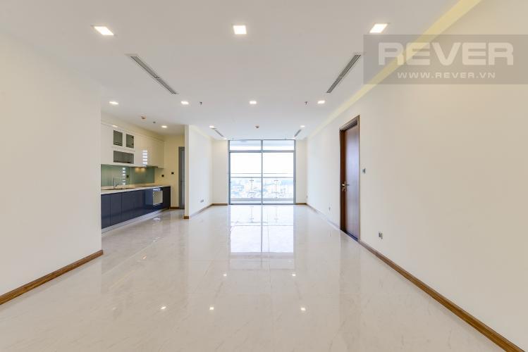 Phòng khách Căn hộ Vinhomes Central Park 3 phòng ngủ tầng cao P5 view sông
