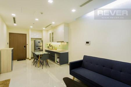 Bán căn hộ Vinhomes Central Park 1PN, tháp Park 7, đầy đủ nội thất, view nội khu yên tĩnh