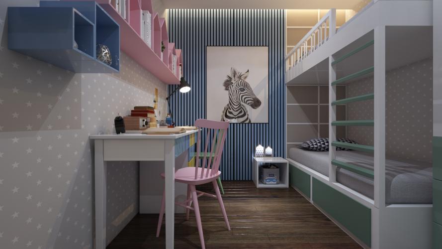 Căn hộ mẫu Akari City Căn hộ Akari City tầng trung, view căn hộ mát mẻ.