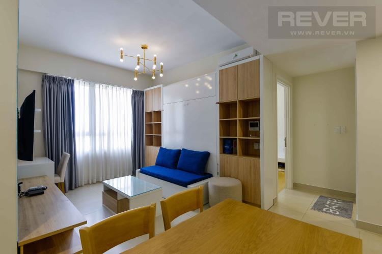 Phòng Khách Cho thuê căn hộ Masteri Thảo Điền 1PN, tầng cao, tháp T4, đầy đủ nội thất