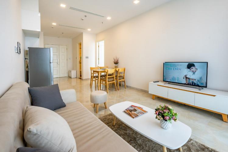 Cho thuê officetel Vinhomes Golden River 1PN, tháp The Aqua 4, diện tích 46m2, đầy đủ nội thất