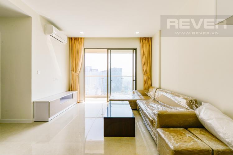 Phòng khách Cho thuê căn hộ Masteri Millennium tầng cao 2PN đầy đủ nội thất