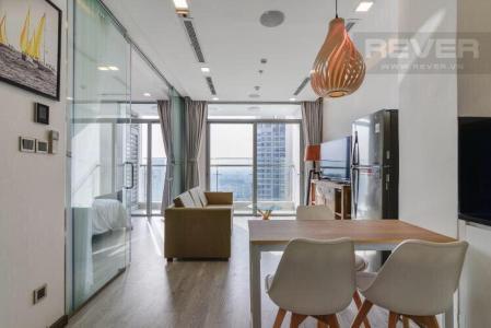 Cho thuê căn hộ Vinhomes Central Park 1PN, tháp Park 6, đầy đủ nội thất, view sông Sài Gòn