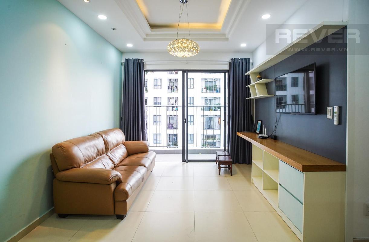 phòng khách có ban công view nội khu Cho thuê căn hộ M-One Nam Sài Gòn 3PN, tầng 9, tháp T1, đầy đủ nội thất, view thoáng