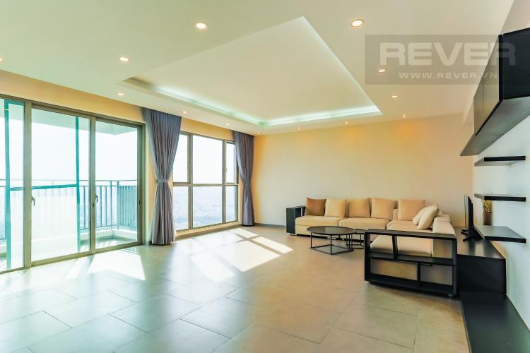 Phòng Khách Căn hộ The View Riviera Point 3 phòng ngủ tầng cao T5 view hướng sông