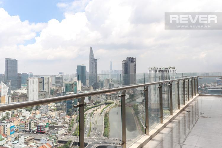 View Ban Công Bán penthouse Masteri Millennium 3PN, block A, không nội thất, thiết kế thông tầng, view panarama thành phố