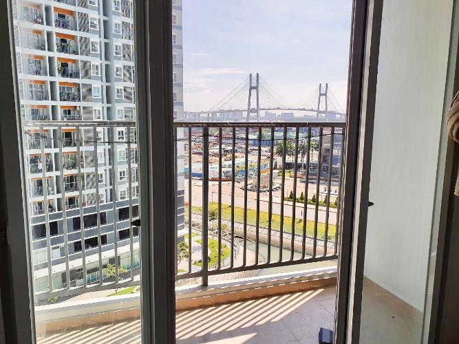 Ban công Jamona City Quận 7 Căn hộ Jamona City tầng 8, view thành phố, nội thất đầy đủ.