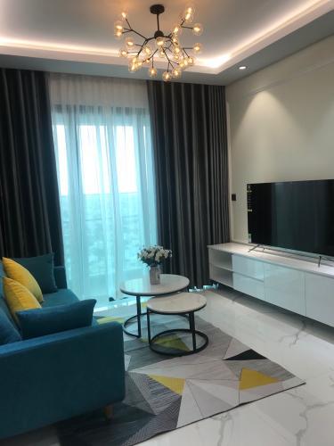 Phòng khách căn hộ Feliz En Vista Bán căn hộ Feliz En Vista nội thất đầy đủ, ban công thoáng mát.