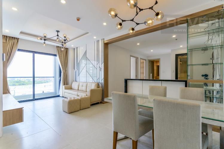 Phòng Khách Cho thuê căn hộ New City Thủ Thiêm 3PN 2WC, nội thất cơ bản, view hướng nội khu