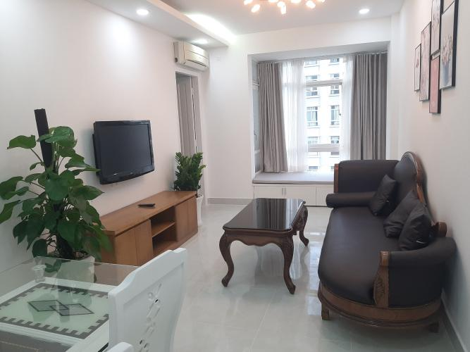 Phòng khách căn hộ Sky Garden 3 Căn hộ Sky Garden 2 phòng ngủ thiết kế hiện đại, view thành phố.