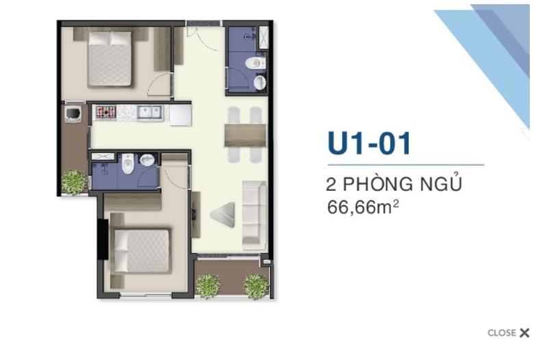 Căn hộ Q7 Saigon Riverside tầng cao view thông thoáng, yên tĩnh.
