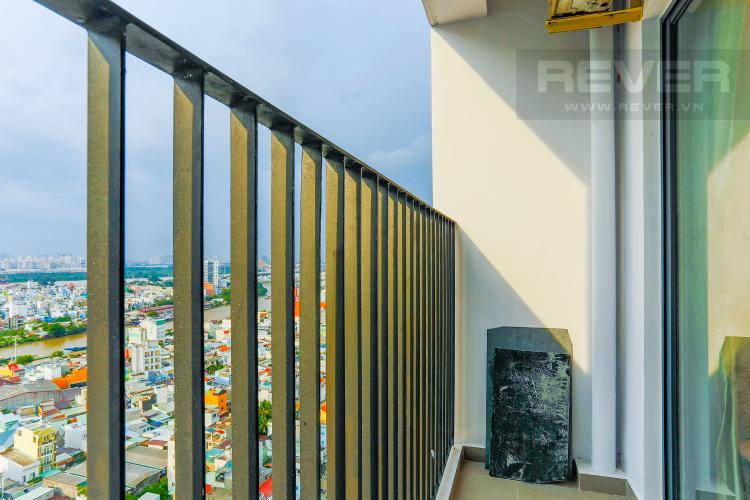 Ban Công Căn hộ M-One Nam Sài Gòn tầng cao, tháp T2, 2 phòng ngủ, view sông