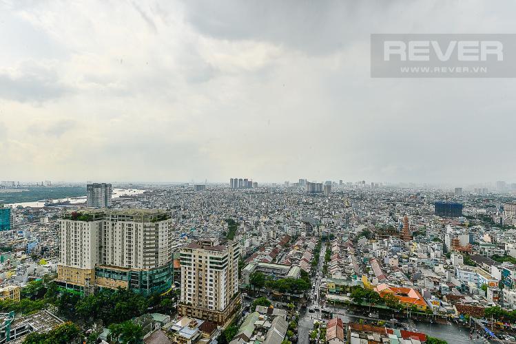 View căn hộ MASTERI MILLENNIUM Bán căn hộ Masteri Millennium 2PN, tầng cao, đầy đủ nội thất, ban công hướng Nam