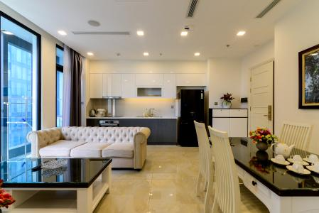 Cho thuê căn hộ Vinhomes Golden River 2PN, tầng thấp, tháp The Aqua 3, đầy đủ nội thất, view sông thoáng mát