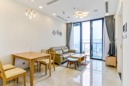 Officetel Vinhomes Golden River 2 phòng ngủ tầng trung A3 nội thất đầy đủ