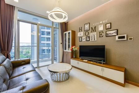 Căn hộ Vinhomes Central Park tầng thấp, Park 7, 2 phòng ngủ, view nội khu