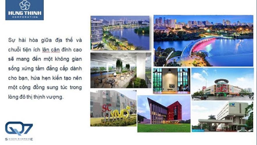 Tiện ích ngoài căn hộ Q7 Saigon Riverside Bán căn hộ hướng Nam nhìn về nội khu thoáng mát Q7 Saigon Riverside.