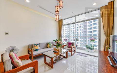 Bán hoặc cho thuê căn hộ Vinhomes Central Park 2PN, tầng cao, đầy đủ nội thất, view sông thoáng đãng