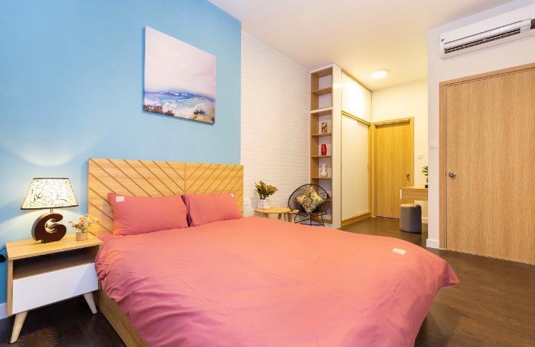 Phòng ngủ căn hộ The Sun Avenue Căn hộ The Sun Avenue nội thất hiện đại, view thành phố sầm uất.