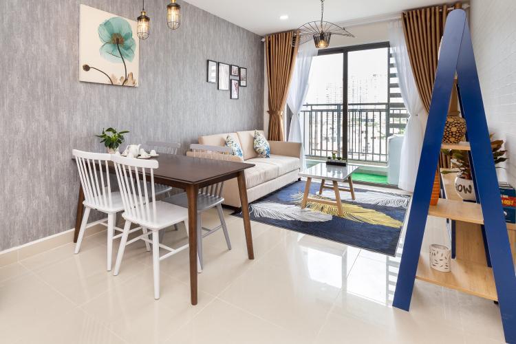 Phòng khách căn hộ The Sun Avenue Căn hộ The Sun Avenue thiết kế hiện đại, view thành phố sầm uất.