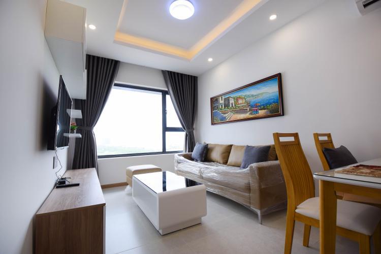 Phòng Khách Căn hộ New City Thủ Thiêm tầng trung tòa Babylon, 1 phòng ngủ, full nội thất