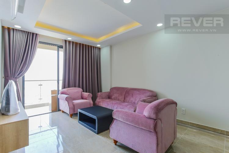 Phòng Khách Căn hộ The Gold View 2 phòng ngủ tầng cao tháp B nội thất đầy đủ