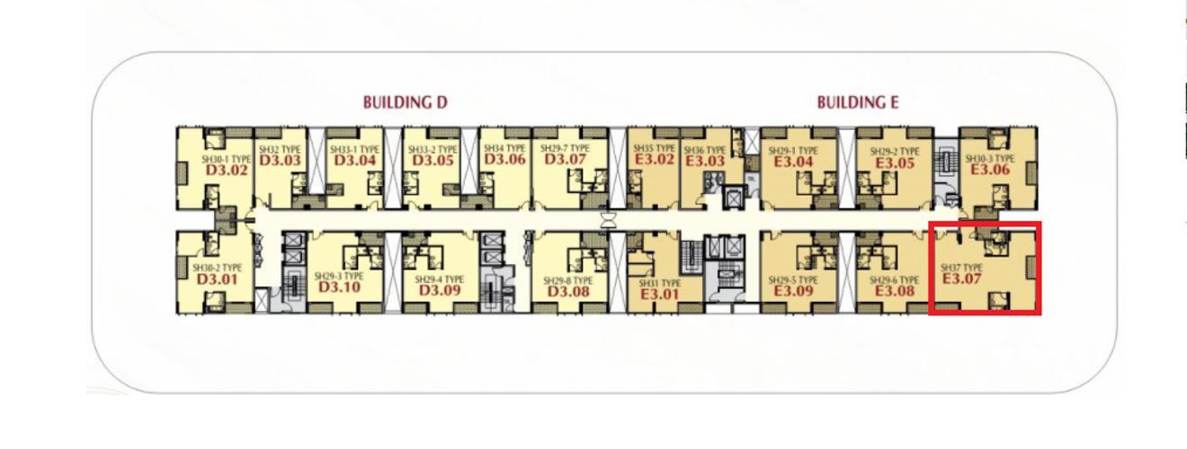 Layout shophouse Phú Mỹ Hưng Midtown Shop-house Phú Mỹ Hưng Midtown tầng thấp, diện tích 127m2.