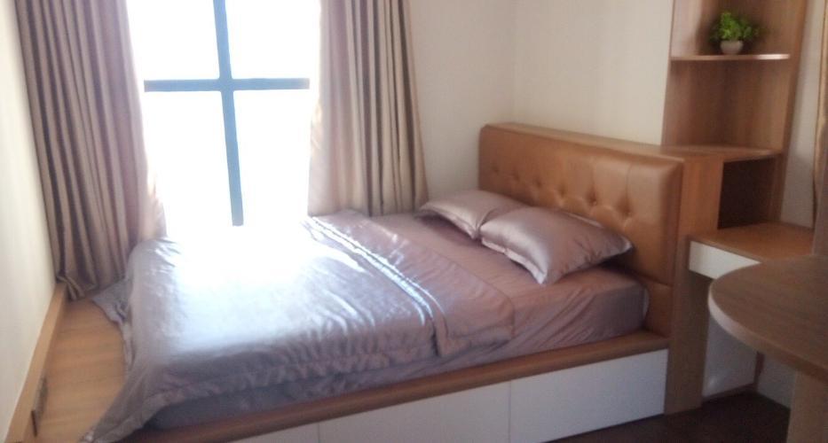 Phòng ngủ căn hộ Saigon Royal, Quận 4 Căn hộ Saigon Royal tầng cao hướng Tây Bắc, nội thất đầy đủ.
