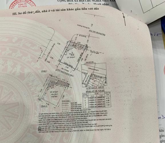 Bản vẻ nhà phố Quận 3 Nhà phố mặt tiền đường Hoàng Sa diện tích đất 45m2, sổ hồng đầy đủ
