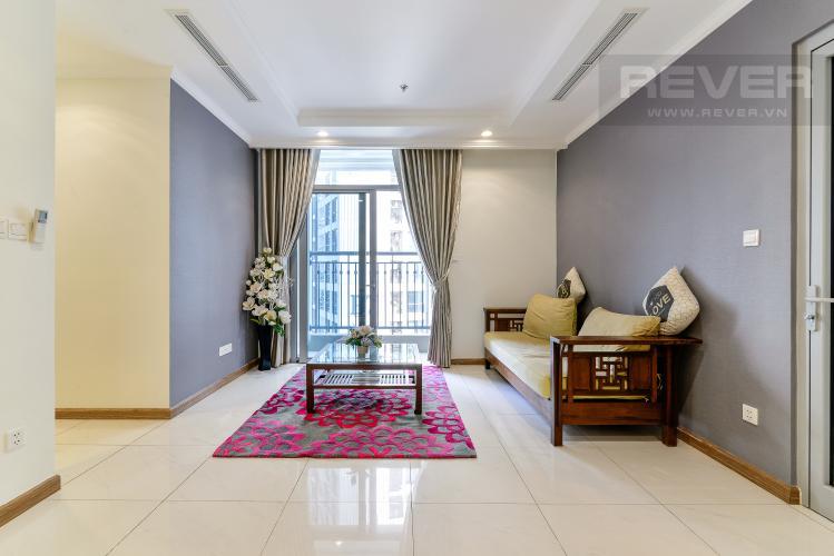 Phòng  Khách Căn hộ Vinhomes Central Park tầng trung, 2PN, nội thất đầy đủ