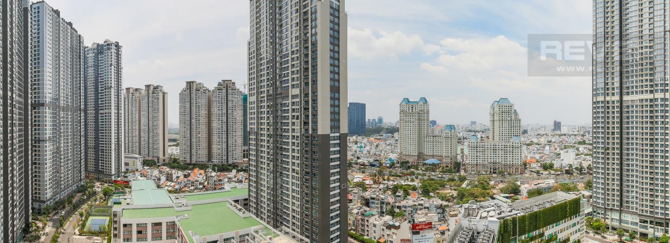 View Cho thuê căn hộ Vinhomes Central Park 3 phòng ngủ, đầy đủ nội thất, view nội khu