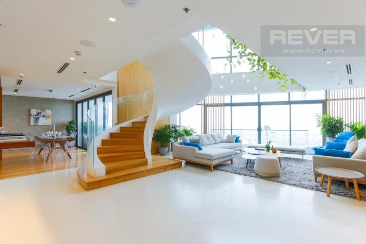 Phòng Khách Penthouse City Garden tầng cao B2 thiết kế sang trọng, nội thất cao cấp