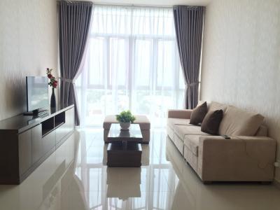 Cho thuê căn hộ The Vista An Phú 2PN, tháp T5, diện tích 101m2, đầy đủ nội thất, view sông mát mẻ