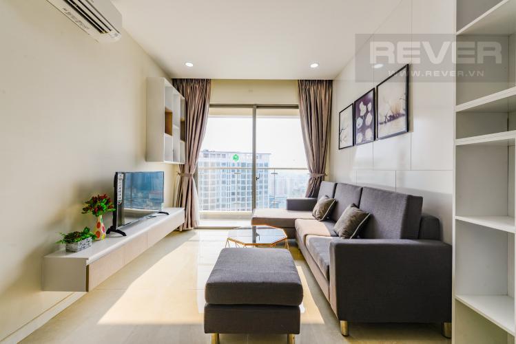 Phòng khách Cho thuê căn hộ Masteri Millennium 2PN nội thất đầy đủ, tiện ích đa dạng