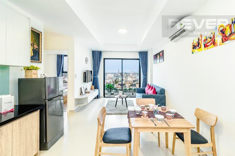 Phòng khách Cho thuê căn hộ M-One Nam Sài Gòn tầng trung, 2PN, đầy đủ nội thất