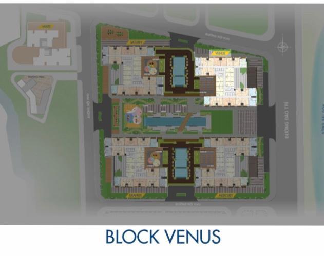 Block Venus Q7 Saigon Riverside Căn hộ Q7 Saigon Riverside tầng cao, view nội khu.