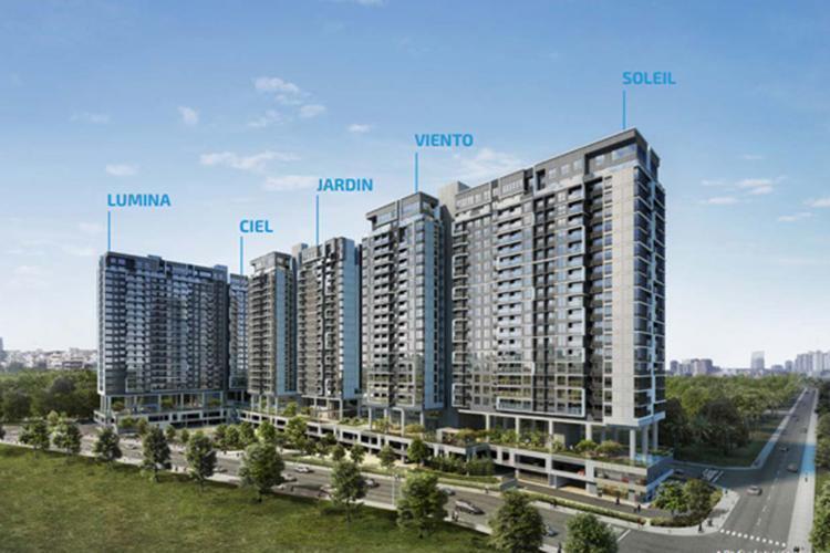 Bán căn hộ One Verandah 3 phòng ngủ, tầng trung, diện tích 98m2, hướng Đông Bắc